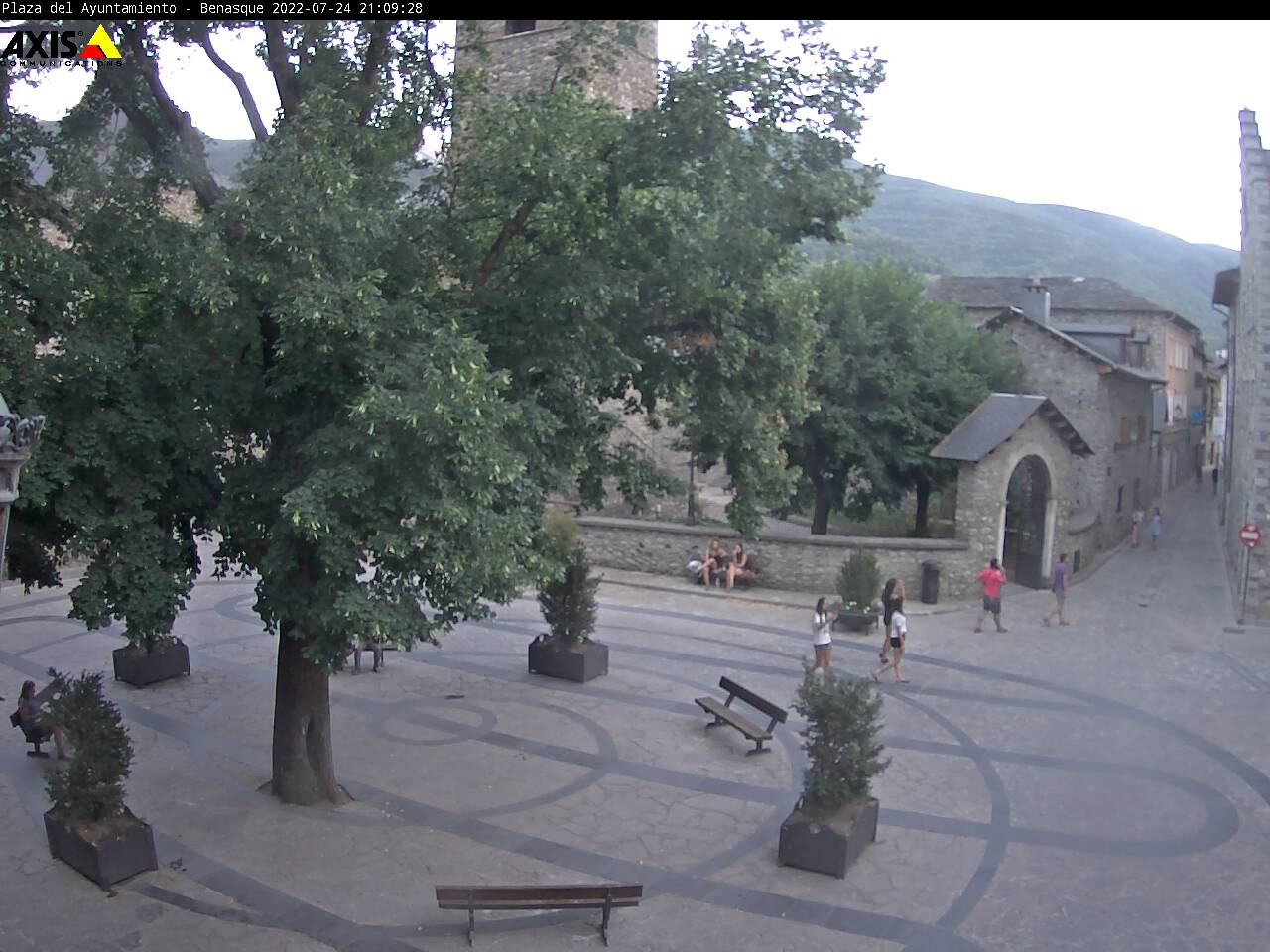 Webcam Plaza del ayuntamiento Benasque
